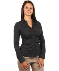 TopMode Elegantní košile na knoflíky černá