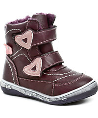 Dětská obuv Magnus 46-0164-R1 bordó dívčí zimní boty