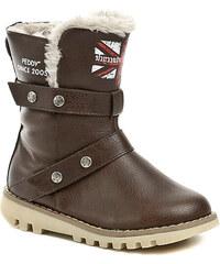 Peddy PT-533-34-25 hnědé dětské zimní boty