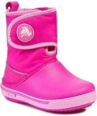 Sněhule CROCS - Crocband II.5 Gust Boot Kids 12905 Neon Magenta/Carnation
