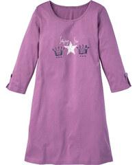 bpc bonprix collection Chemise de nuit violet manches 3/4 lingerie - bonprix