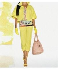 Apart Barvy zmrzliny! Letní móda APART 7/8 kalhotový bavlněný kostým ve žluté barvě