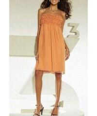 APART Impressions Šifonové šaty bandeau v barvě orange od APART Impressions 0ed1cebbb6