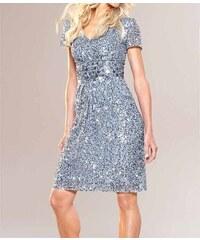 Apart APART módní společenské šaty s flitry v barvě světle modré b52e986215