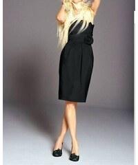 Apart Luxusní saténové pouzdrové šaty APART Impressions s taftovou  podšívkou v černé barvě levně e535616684