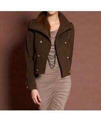 Apart APART krátký vlněný kabátek s kašmírem i pro plnoštíhlé