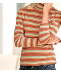 Dámský svetr, rolák pro plnoštíhlé z kašmíru