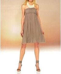 Apart Šifonové večerní společenské šaty s perlami APART v barvě taupe  (šedohnědé) 3770730bef