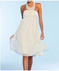 Apart Svatební šaty APART v krémové barvě ze šifonu se saténovou spodničkou 38e6fbb22a