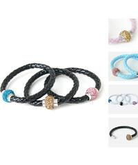 Lesara Zweifarbiges Magnet-Armband - Weiß-Blau