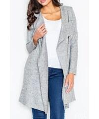 Dlouhý vlněný plášť, dlouhý vlněný svetr, Figl (M/38, L/40 skladem) S šedá