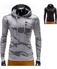 Lesara Sweat à capuche avec motif camouflage