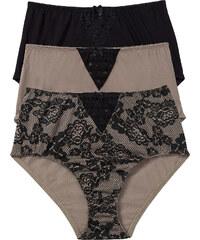 bpc bonprix collection Taillenslip (3er-Pack) in braun für Damen von bonprix