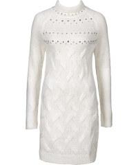 BODYFLIRT Long-Pullover langarm in weiß für Damen von bonprix