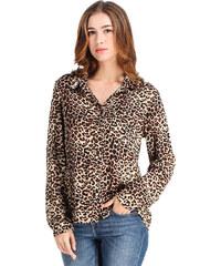 Lesara Klassische Bluse mit Leoparden-Muster - Leopard - S