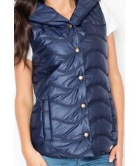 Vesta FIGL, dámská prošívaná vesta, zimní vesta, vesty S námořnická modř