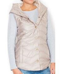 Vesta FIGL, dámská prošívaná vesta, zimní vesta, vesty S béžová