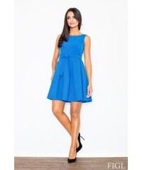 Šaty, dámské šaty styl Audrey Hepburn, Figl S modrá royal