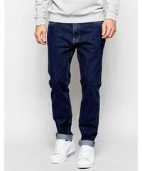 ADPT - Schmale Jeans in Anti-Fit und mit Rinse-Waschung - Blau