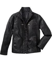 bpc bonprix collection Blouson synthétique imitation cuir gris manches longues homme - bonprix
