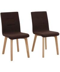 Stühle Laura im 2-er Set in 5 Farben HOME AFFAIRE braun