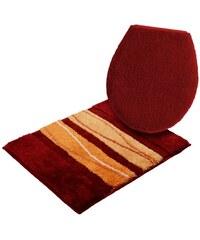 Grund Badematte Hänge WC-Set ORLY Höhe 24 mm rutschhemmender Rücken GRUND orange 10 (2-tlg. Hänge-WC-Set)