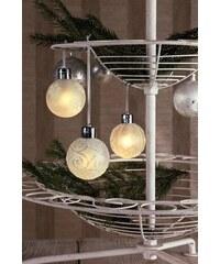 HELLUM hellum LED - Glaskugel 3er Set mit Fernbedienung natur