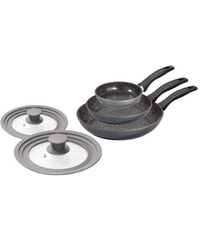 STONELINE Pfannen-Set Aluminiumguss Multideckel Induktion grau