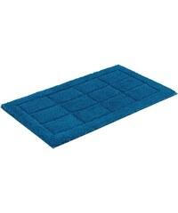 Badematte Santorin3 Höhe 22 mm Microfaser rutschhemmender Rücken SCHÖNER WOHNEN blau 1 (55 x 65 cm),3 (60 x 100 cm),4 (70 x 120 cm)