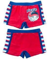 Disney Chlapecké nohavičkové plavky Pirát Jake- červené