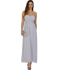 Elise Ryan šedé šaty s perličkami