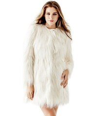 Guess Kabát Glam Faux-Fur Coat