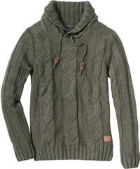 RAINBOW Pullover Slim Fit langarm in grün für Herren von bonprix
