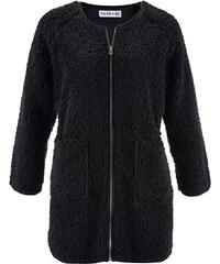bpc bonprix collection Teddy-Fleece Jacke, langarm - designt von Maite Kelly in schwarz für Damen von bonprix
