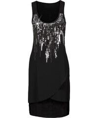 BODYFLIRT Kleid mit Pailletten ohne Ärmel in schwarz von bonprix