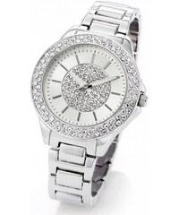 bpc bonprix collection Kovové náramkové hodinky s třpytivým ciferníkem bonprix