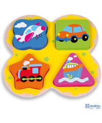 ANDREU Toys Vkládačka s dopravními prostředky