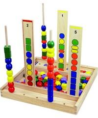 ANDREU Toys Hra Stavění korálků do komínků
