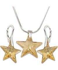 Set s kameny Swarovski STAR SET GOLDEN SHADOW 42 cm