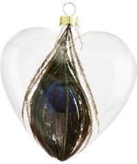 Madam Stoltz Vánoční ozdoba Heart Feather