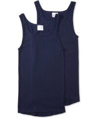 C&A Feinripp Unterhemden aus Bio-Baumwolle in Blau