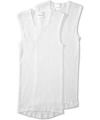 C&A Doppelripp Unterhemden aus Bio-Baumwolle in weiß