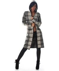 Neuvedena Dámský pletený kabátek s kapucí šedý