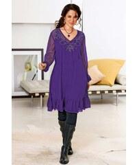 Sheego Dámské šaty pro plnoštíhlé, tunikové šaty XXL, móda nadměrné velikosti 42 lila