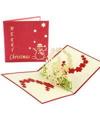 Lesara 3D-Grußkarte mit Merry Christmas-Schriftzug