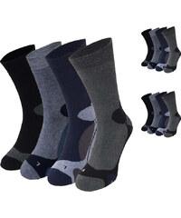 Lesara Lot de 12 paires de chaussettes avec motif