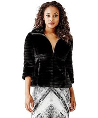 Guess Bunda Cropped Faux-Fur Jacket