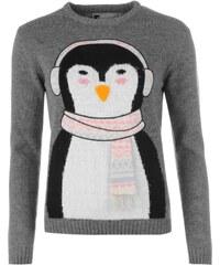 Star Christmas Jumper dámské DkGreyM-Penguin