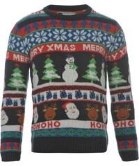 Star Fairisle Knitted Christmas Jumper dětské Multi - HoHoHo