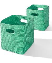bpc living Körbe Bella (2-tlg. Set) in grün von bonprix